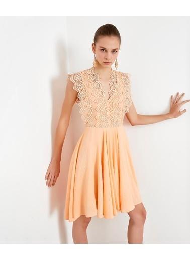 Ipekyol Kadın  Elbise IS1200002461 Pudra
